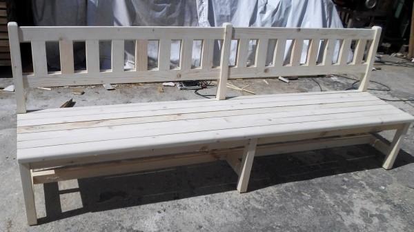 Дървена пейка двойна