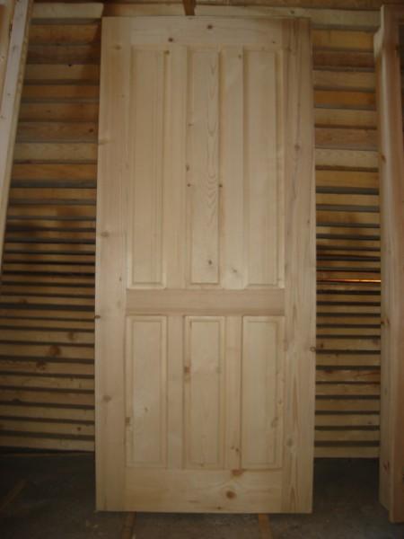 масивна врата с шест табли