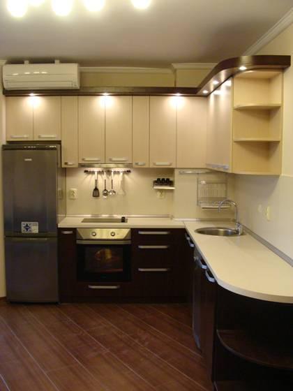 Кухня ПДЧ в два цвята
