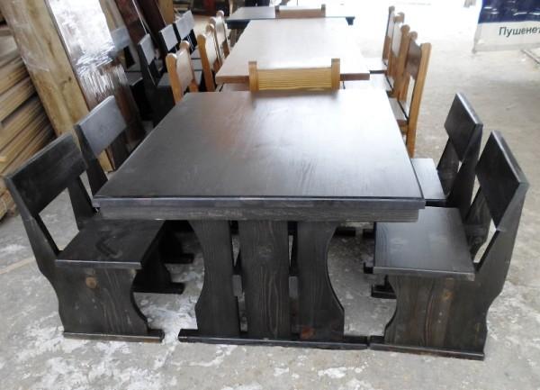 Дървена баварска маса