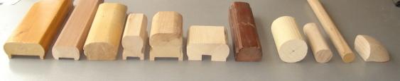 Дървени ръкохватки от бук, дъб, чам.