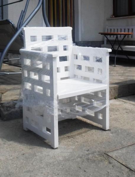 Дървен стол АЙС с подлакътник