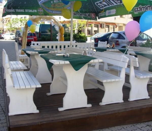 Дървени маси и пейки, столове за заведения и градини-MASIV.BG
