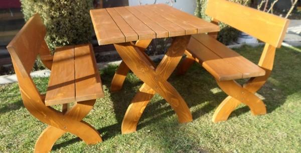 Баварски ЕКС маси и пейки, столове от дърво-MASIV.BG