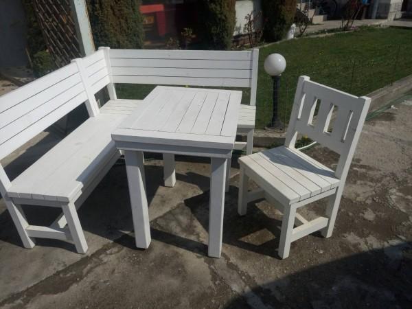 Промоция на градински дървени мебели СЕПАРЕ,101 + МАСА,102 +стол,103